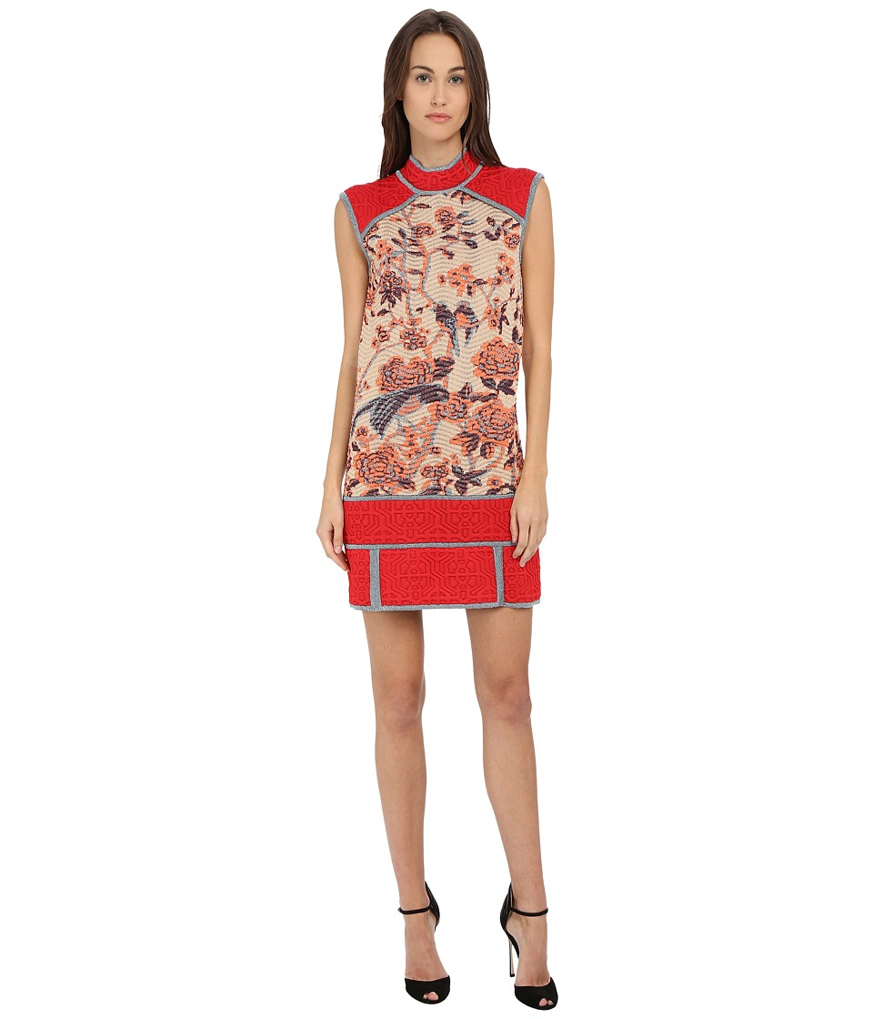 M Missoni - Floral Jacquard Dress (Red) Women's Dress