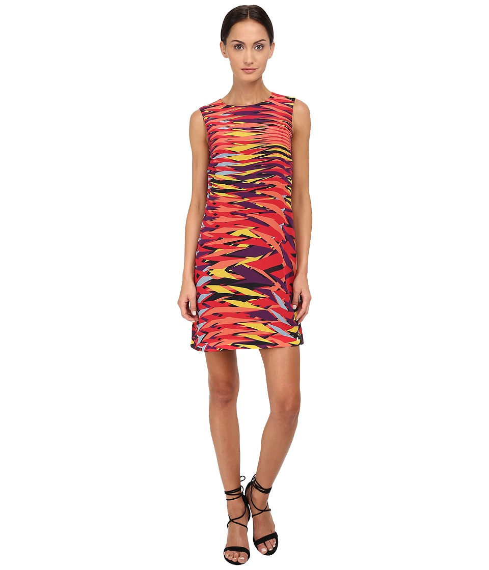 M Missoni Frequency Print Silk Dress (Red) Women