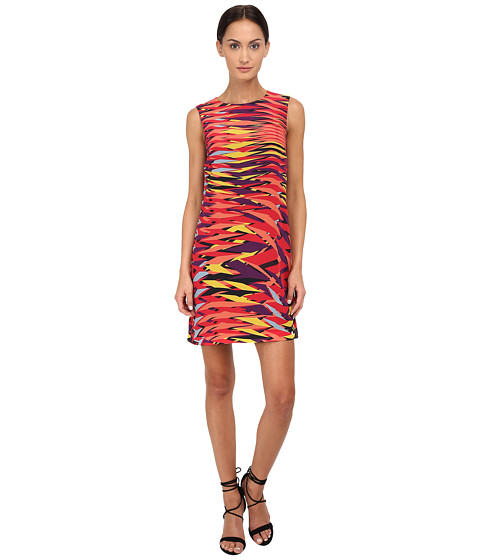 M Missoni - Frequency Print Silk Dress (Red) Women
