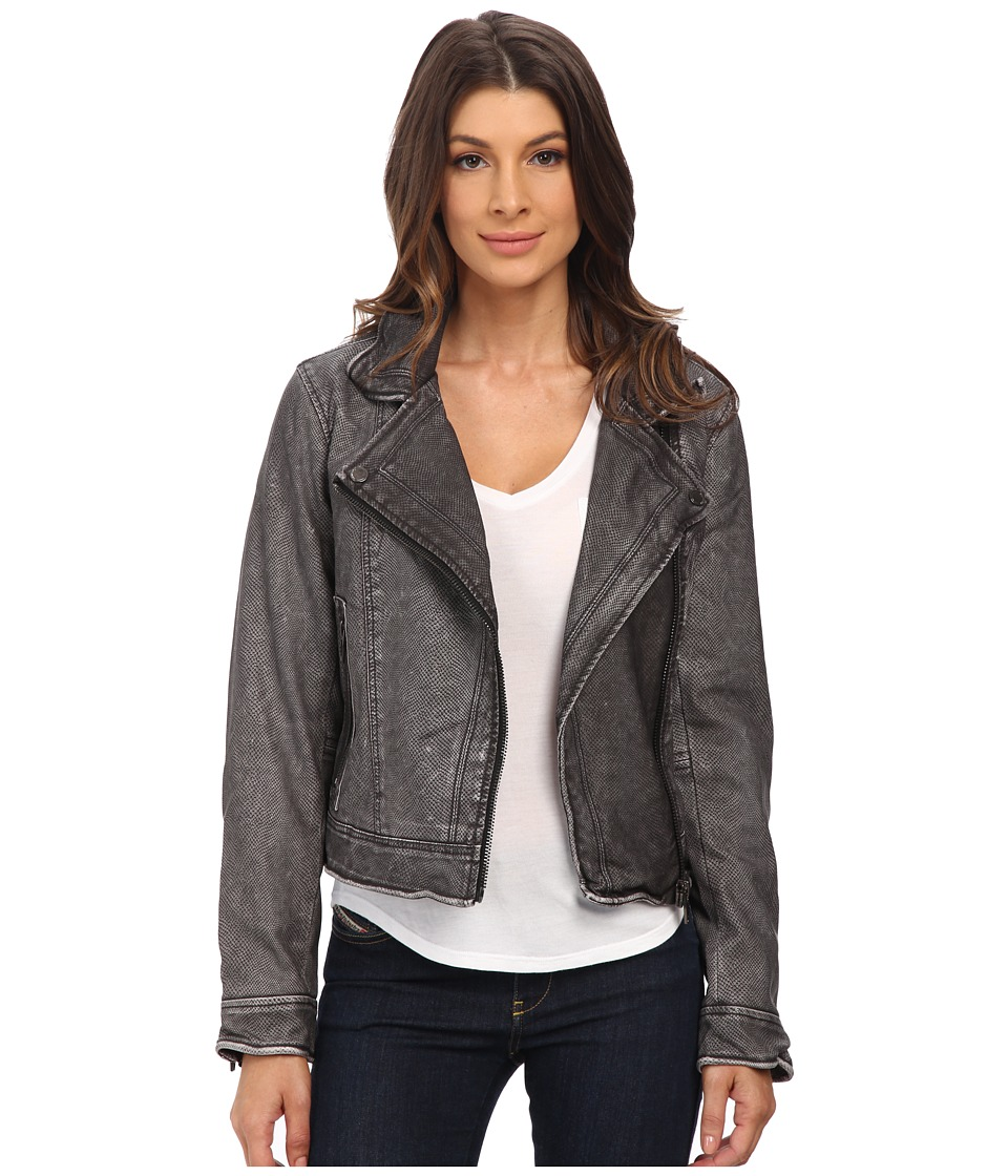 Blank NYC - Vegan Leather Moto Jacket (Grey) Women's Jacket