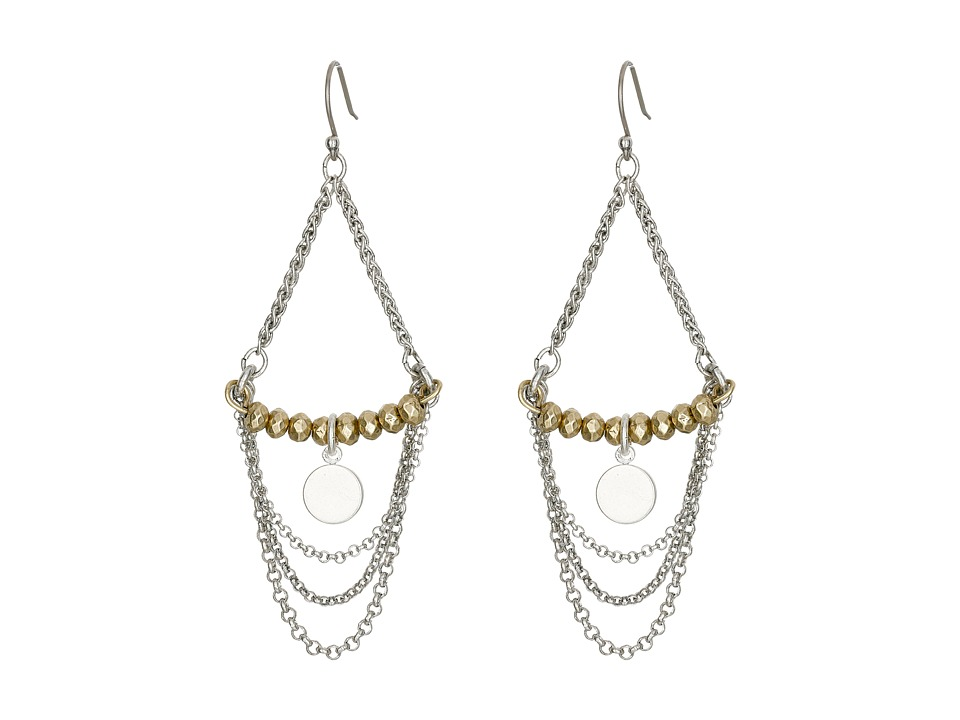 Lucky Brand - Two-Tone Chandelier Earrings (Two-Tone) Earring