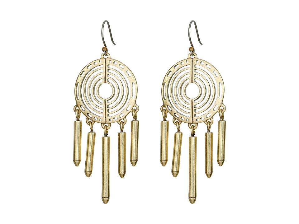 Lucky Brand - Gold Chandelier Crystal Earrings (Gold) Earring