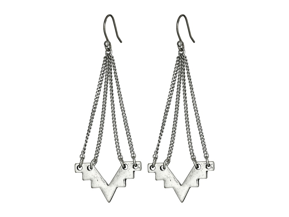 Lucky Brand - Silver Geo Chandelier Earrings (Silver) Earring