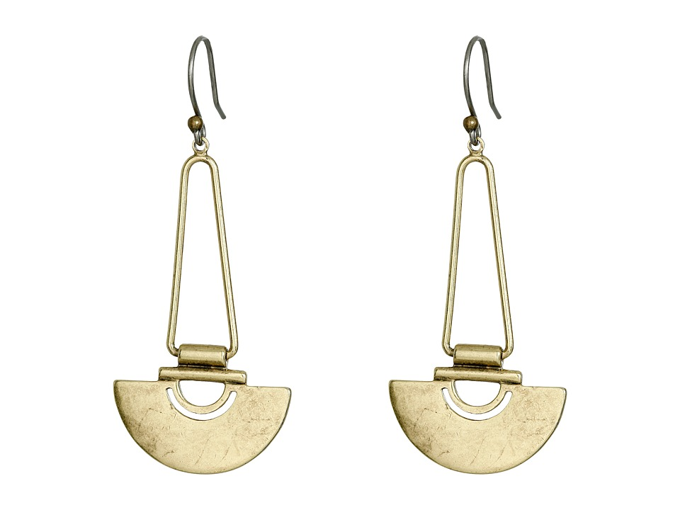 Lucky Brand - Gold Semi Circle Dangle Earrings (Gold) Earring