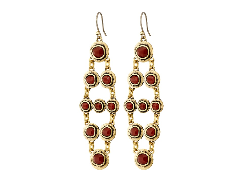 Lucky Brand - Carnelian Major Earrings (Gold) Earring