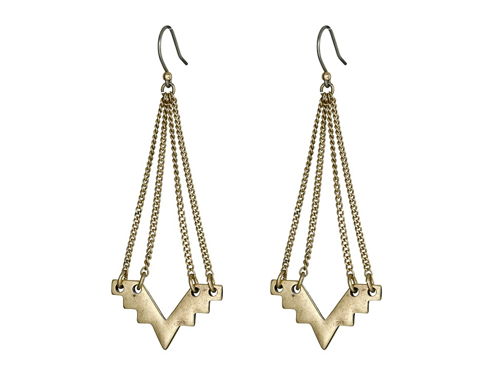 Lucky Brand - Gold Geo Chandelier Earrings (Gold) Earring