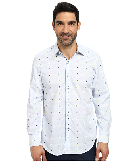 Robert Graham - Ford Island Long Sleeve Woven Shirt (Blue) Men