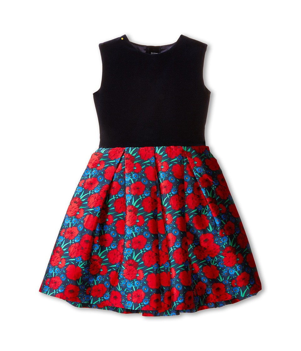 Oscar de la Renta Childrenswear - Poppies Party Dress (Toddler/Little Kids/Big Kids) (Barn Red Multi) Girl's Dress