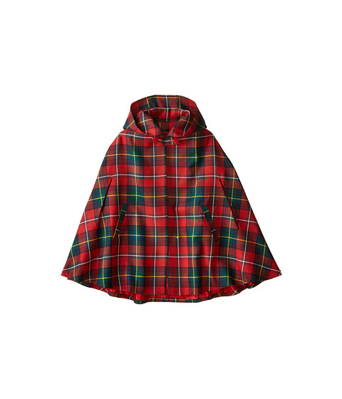 Oscar de la Renta Childrenswear - Holiday Plaid Cape (Toddler/Little Kids/Big Kids) (Barn Red) Girl