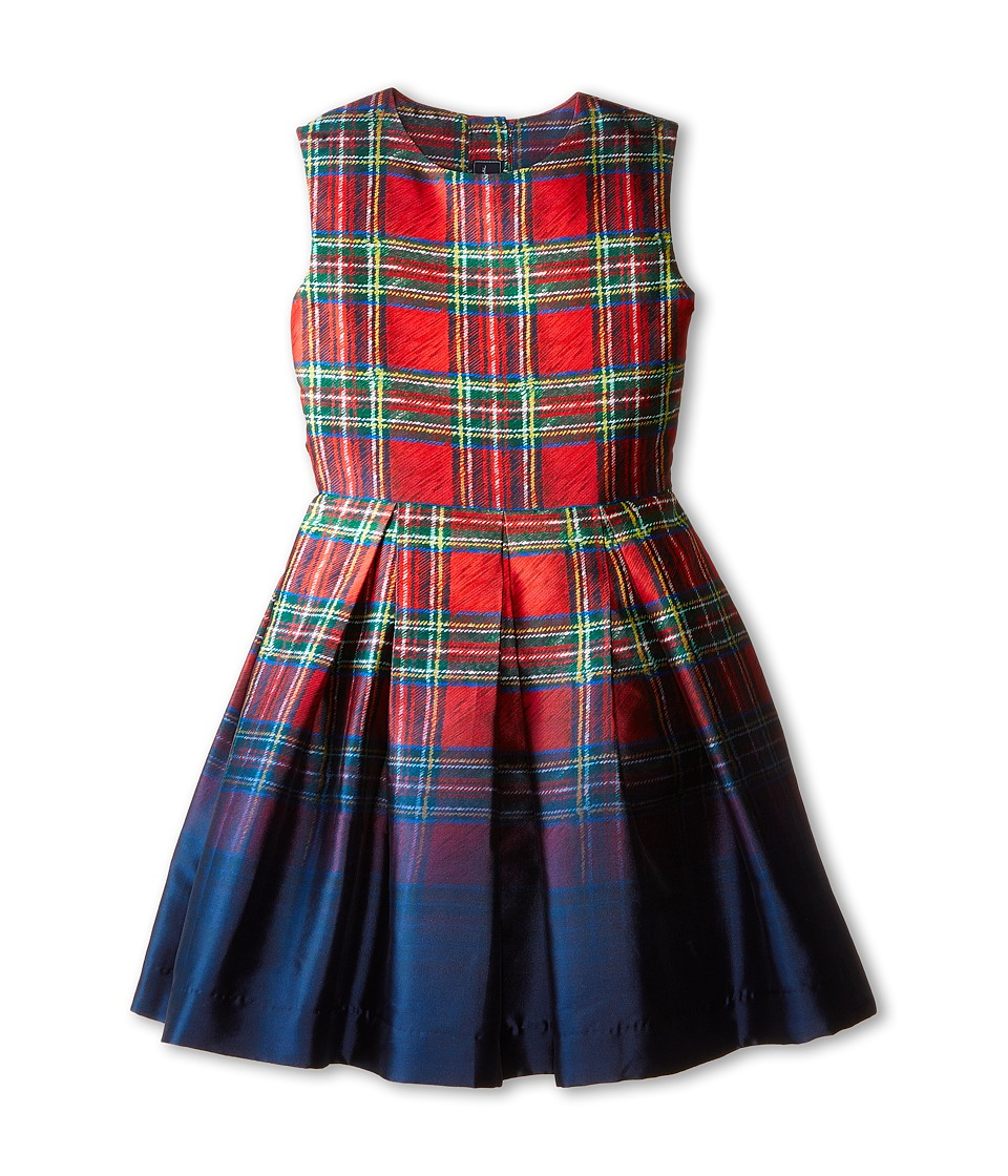 Oscar de la Renta Childrenswear - Tartan Party Dress (Toddler/Little Kids/Big Kids) (Barn Red) Girl's Dress