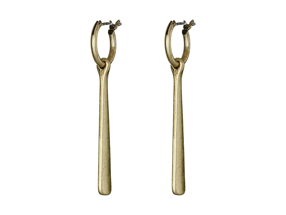 Lucky Brand - Gold Paddle Earrings (Gold) Earring