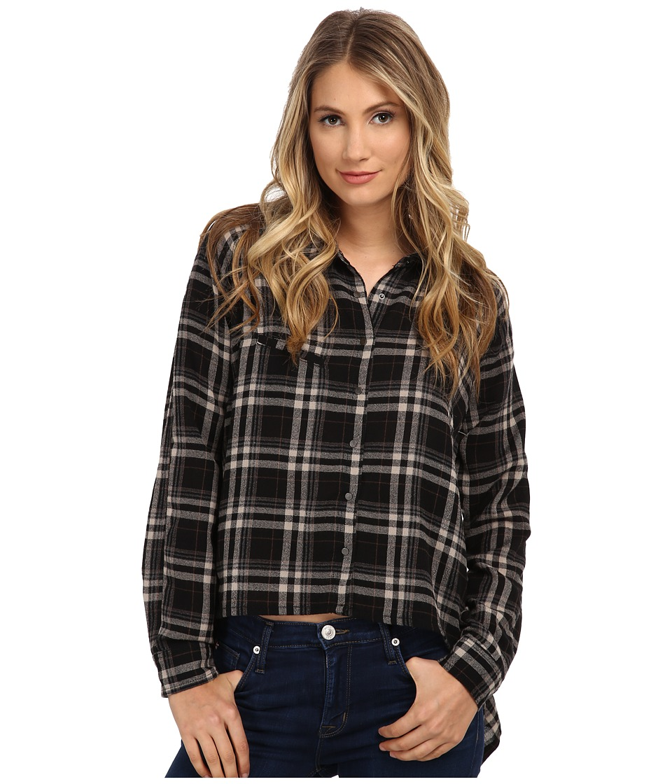 Blank NYC - Plaid Asymmetrical Shirt (Black/White) Women's Clothing