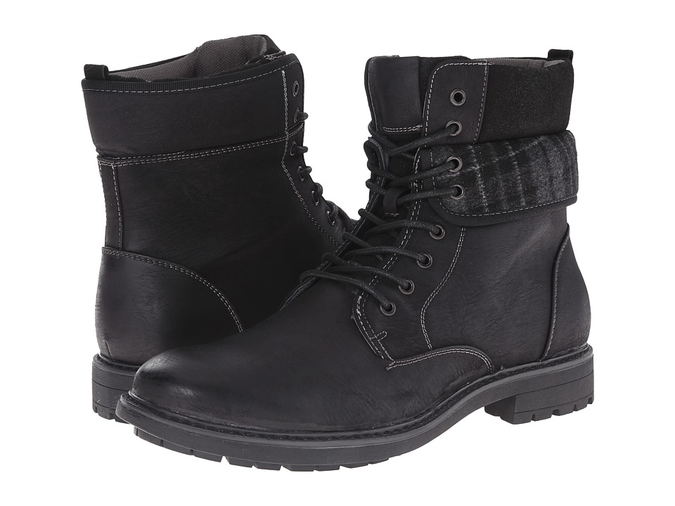 Steve Madden Neptun Black Mens Lace-up Boots
