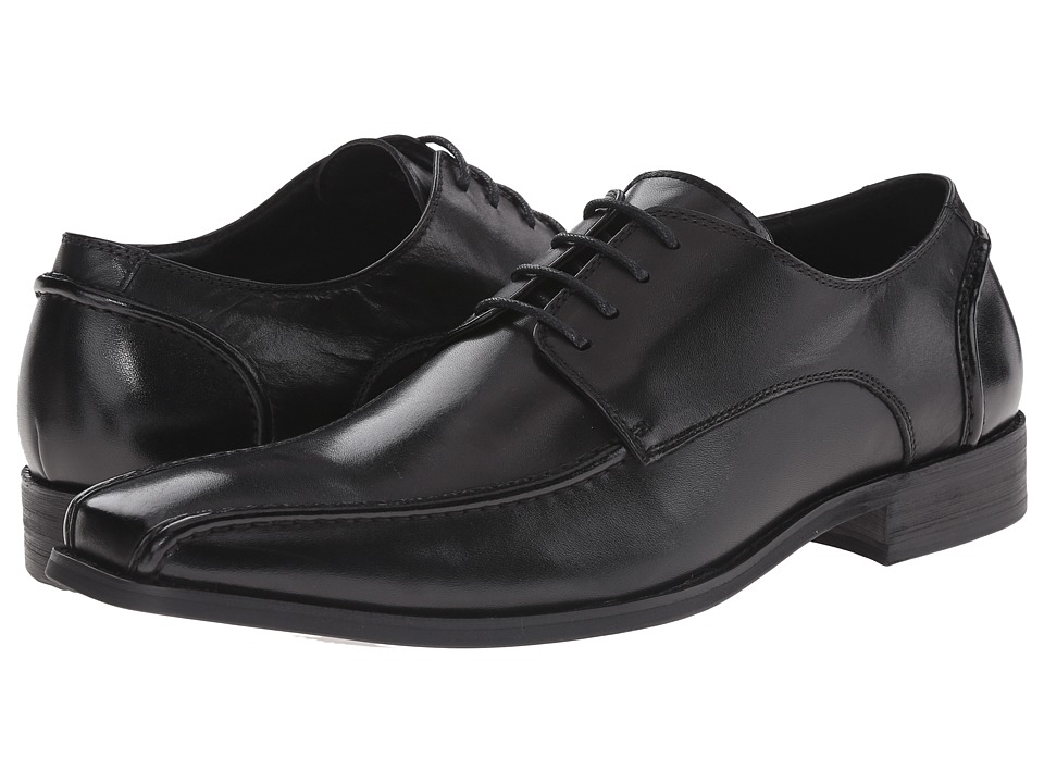 Steve Madden - Centrall (Black Leather) Men
