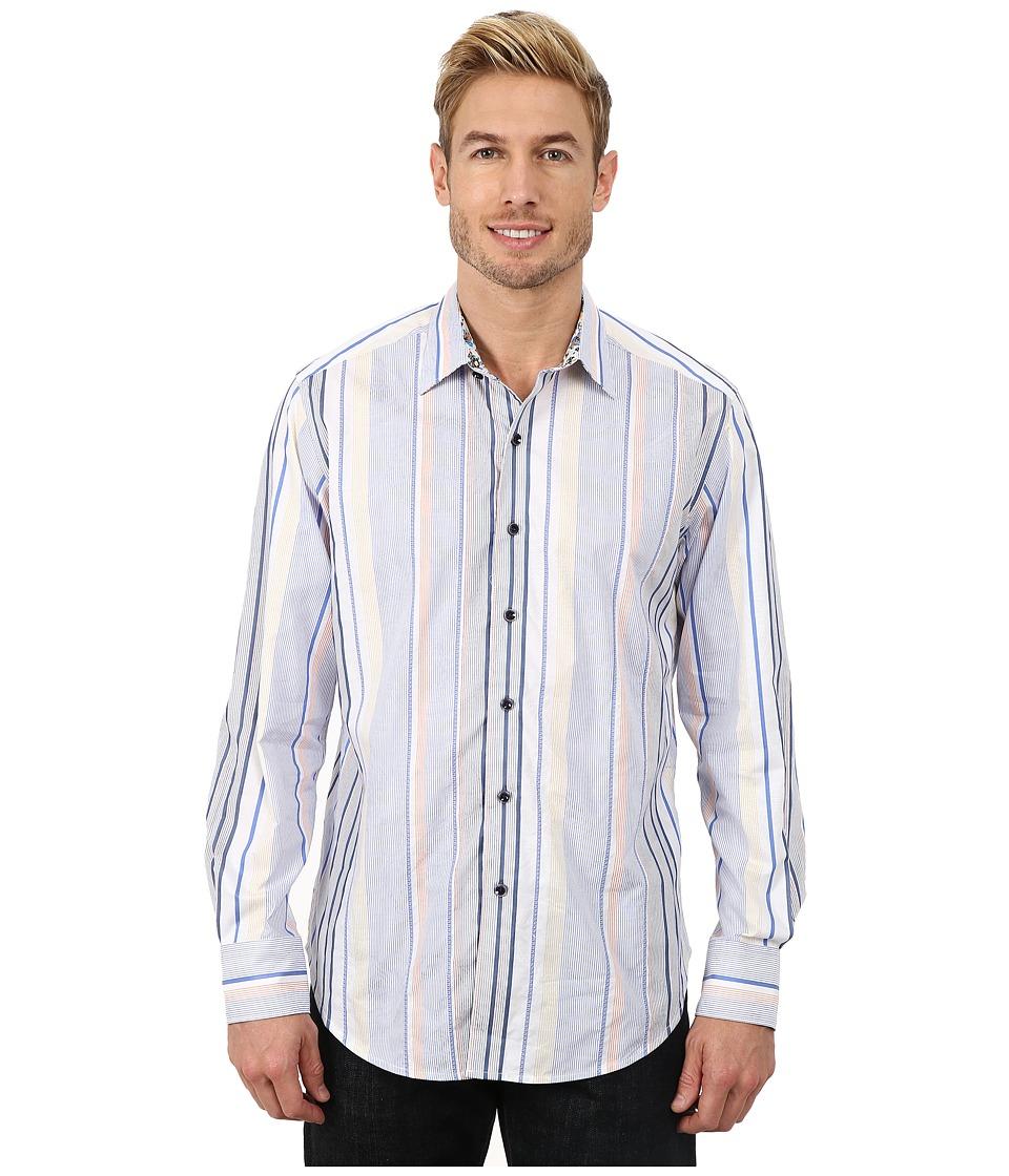 Robert Graham - Kipu Rock Long Sleeve Woven Shirt (Blue) Men's Long Sleeve Button Up