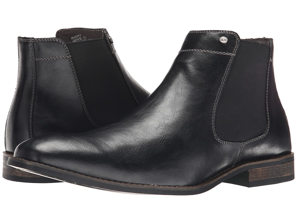 Steve Madden - Ryott (Black Leather) Men