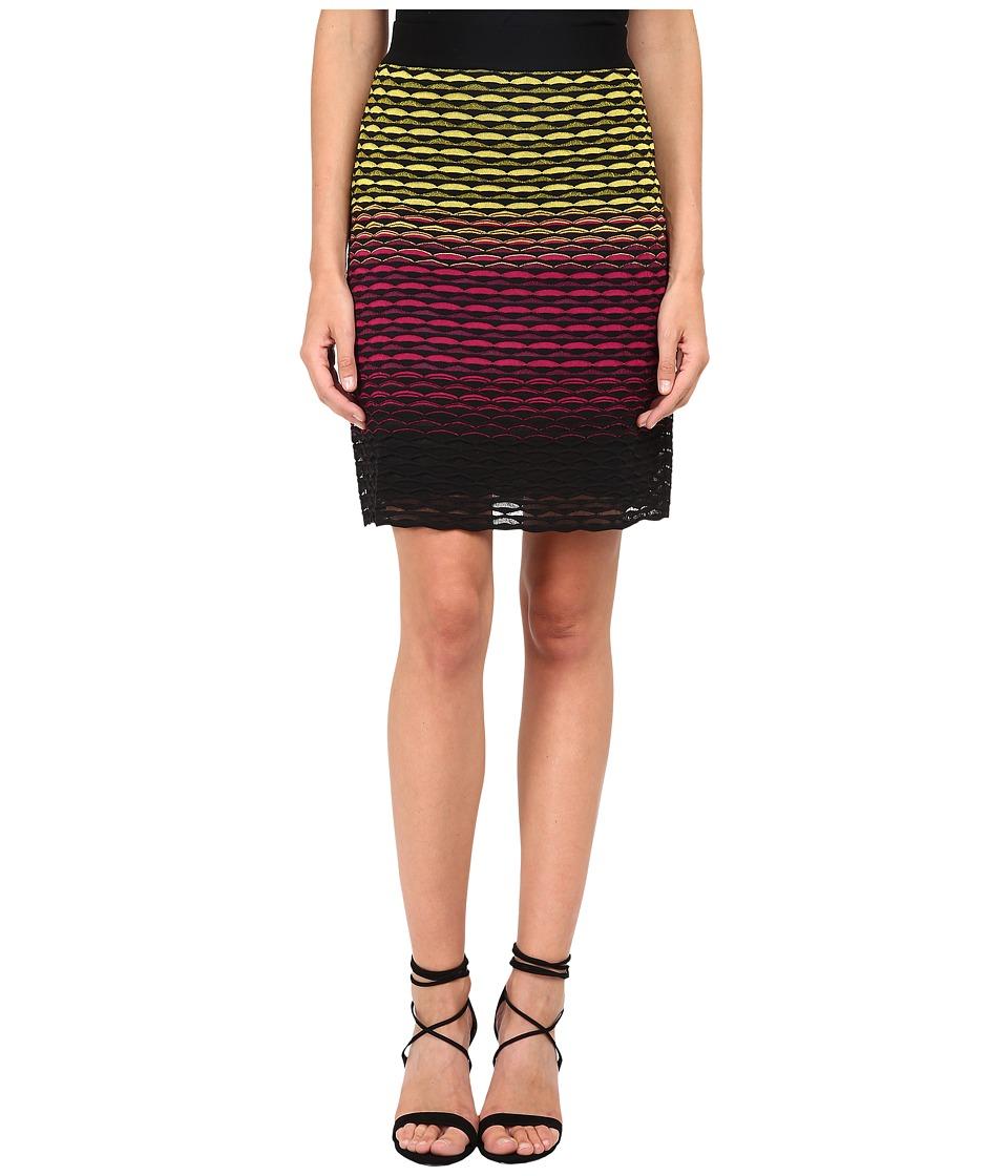 M Missoni - Gradiant Fan Skirt (Fuchsia) Women's Skirt