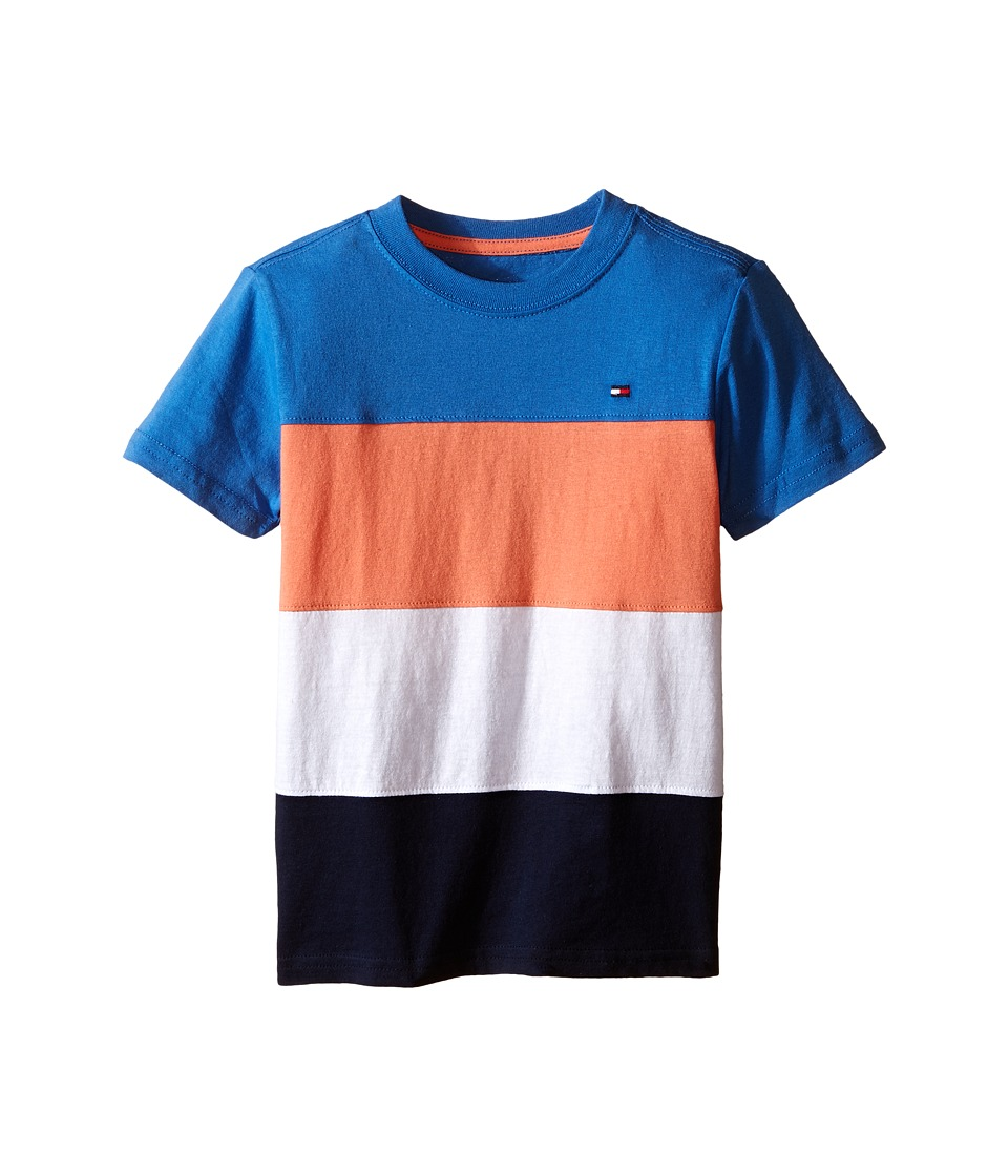 Tommy Hilfiger Kids - Pieced Stripe Tee (Toddler/Little Kids) (Blue Fin) Boy