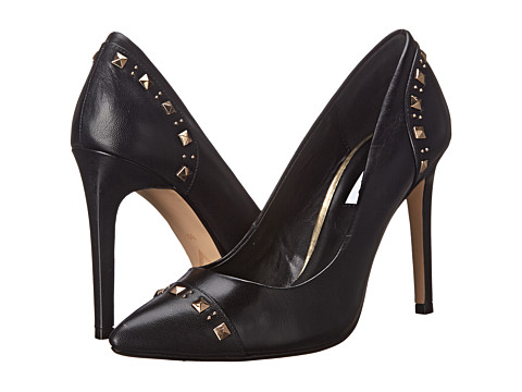 Dune London - Brontie (Black Leather) High Heels