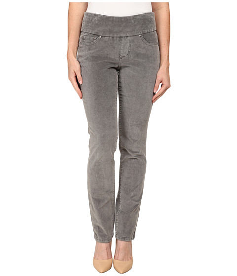 Jag Jeans Petite - Petite Peri Pull On Straight Wale Corduroy (Silver Streak) Women's Casual Pants