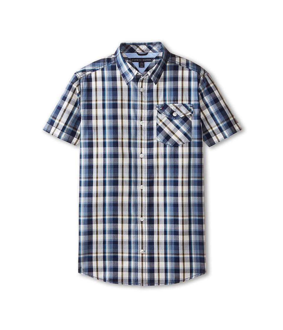 Tommy Hilfiger Kids - Short Sleeve Woven Forrester (Big Kids) (Flag Blue) Boy