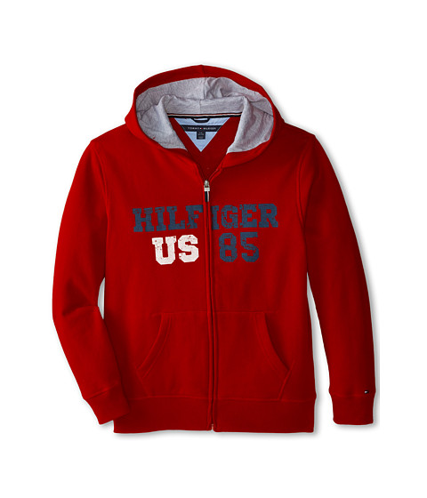 Tommy Hilfiger Kids - Long Sleeve Hilfiger Hoodie (Big Kids) (Bulls Eye) Boy