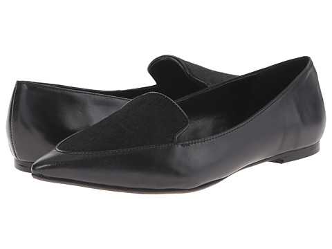Dune London - Austine (Black Leather/Haircalf) Women's Slip on Shoes