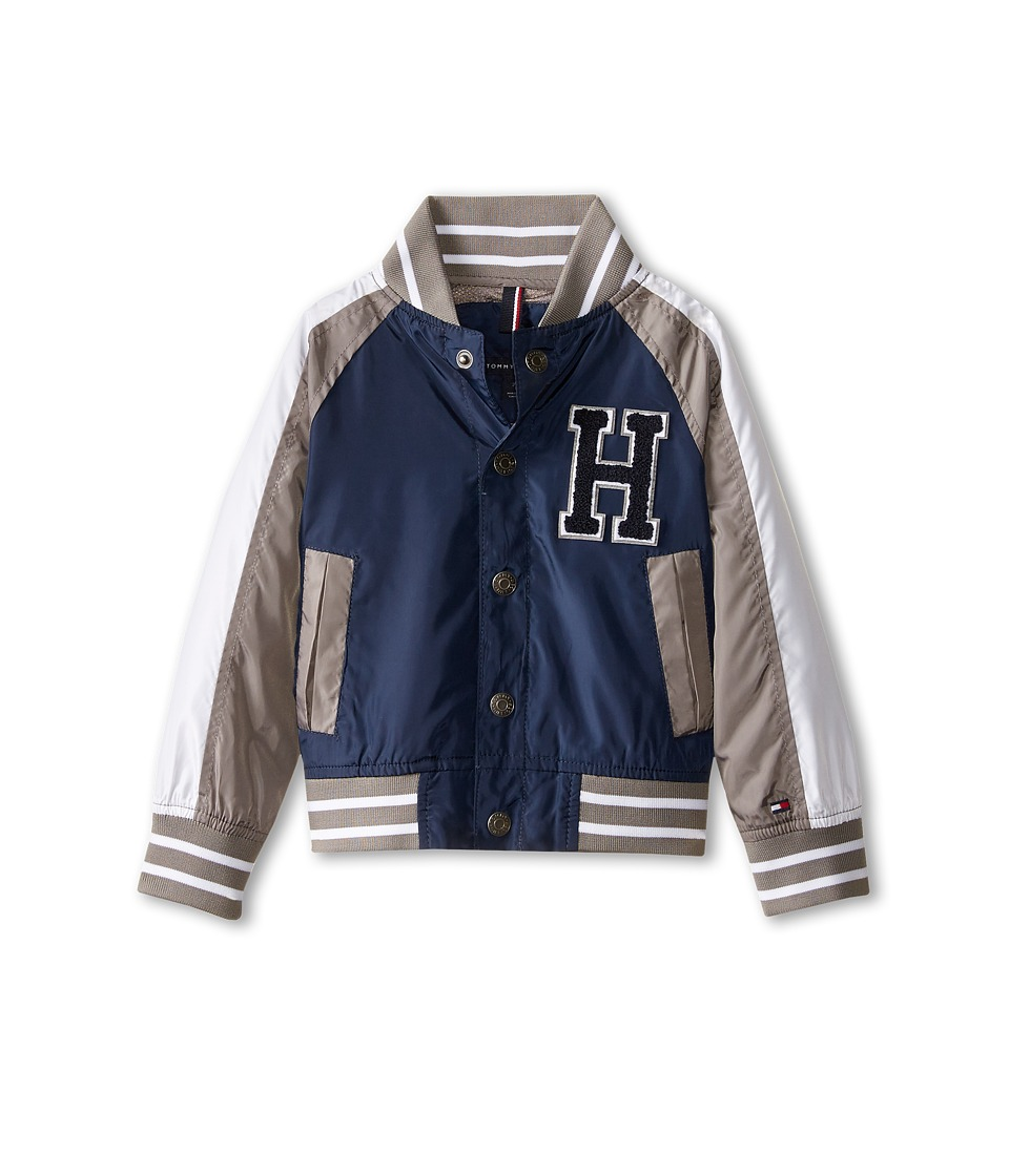 Tommy Hilfiger Kids - Baseball Jacket (Toddler/Little Kids) (Swim Navy) Boy's Coat