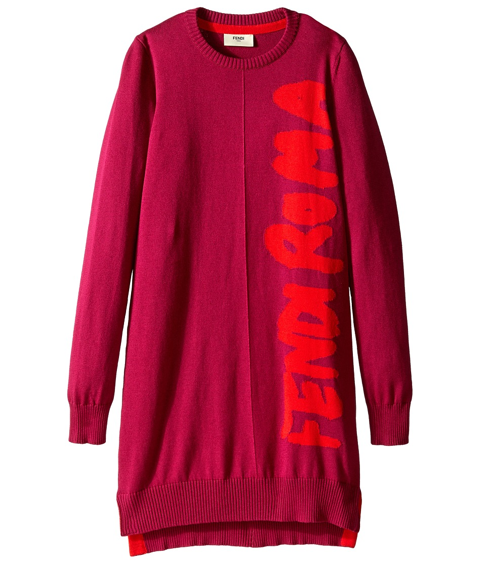 Fendi Kids - Dress Femme Roma (Little Kids) (Red) Girl's Dress