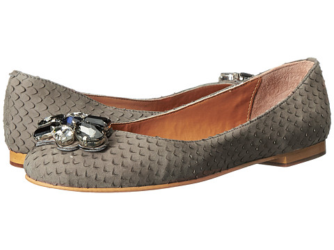 Dune London - Hubble (Grey Print Leather) Women's Flat Shoes
