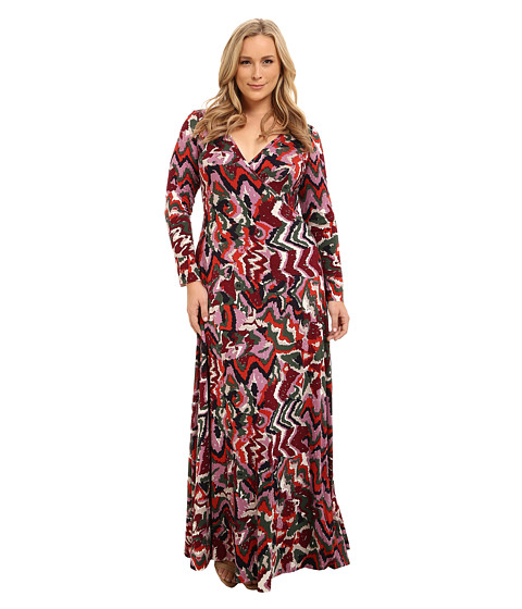 Rachel Pally Plus - Plus Size Long Wrap Dress (Solstice) Women's Dress
