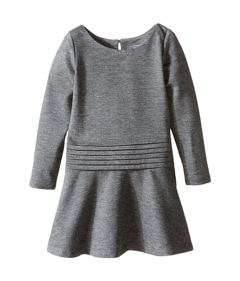 Vince Kids - Tuxedo Dropped Waist Dress (Toddler/Little Kids) (Heather Carbon) Girl's Dress