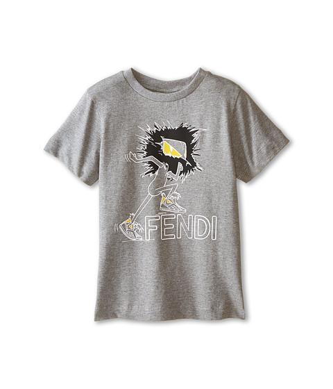 Fendi Kids - Logo Tee Shirt (Toddler) (Grey) Boy