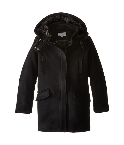 Vince Kids - Wool Parka (Big Kids) (Black) Girl's Coat