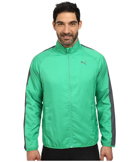 PUMA - Woven Jacket (Bright Green/Turbule) Men's Coat