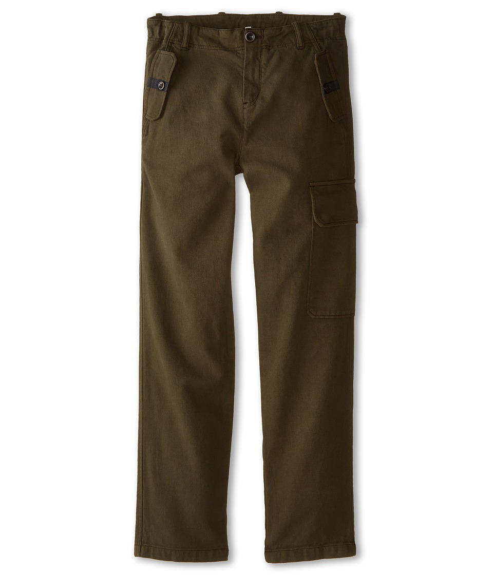Paul Smith Junior - Khaki Cargo Pants (Toddler/Little Kids/Big Kids) (Dark Khaki) Boy's Casual Pants