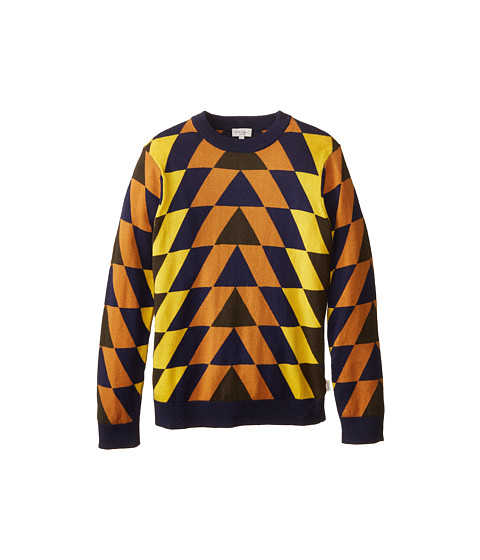 Paul Smith Junior - Colored Triangle Knit Sweater (Toddler/Little Kids/Big Kids) (Dark Navy) Boy