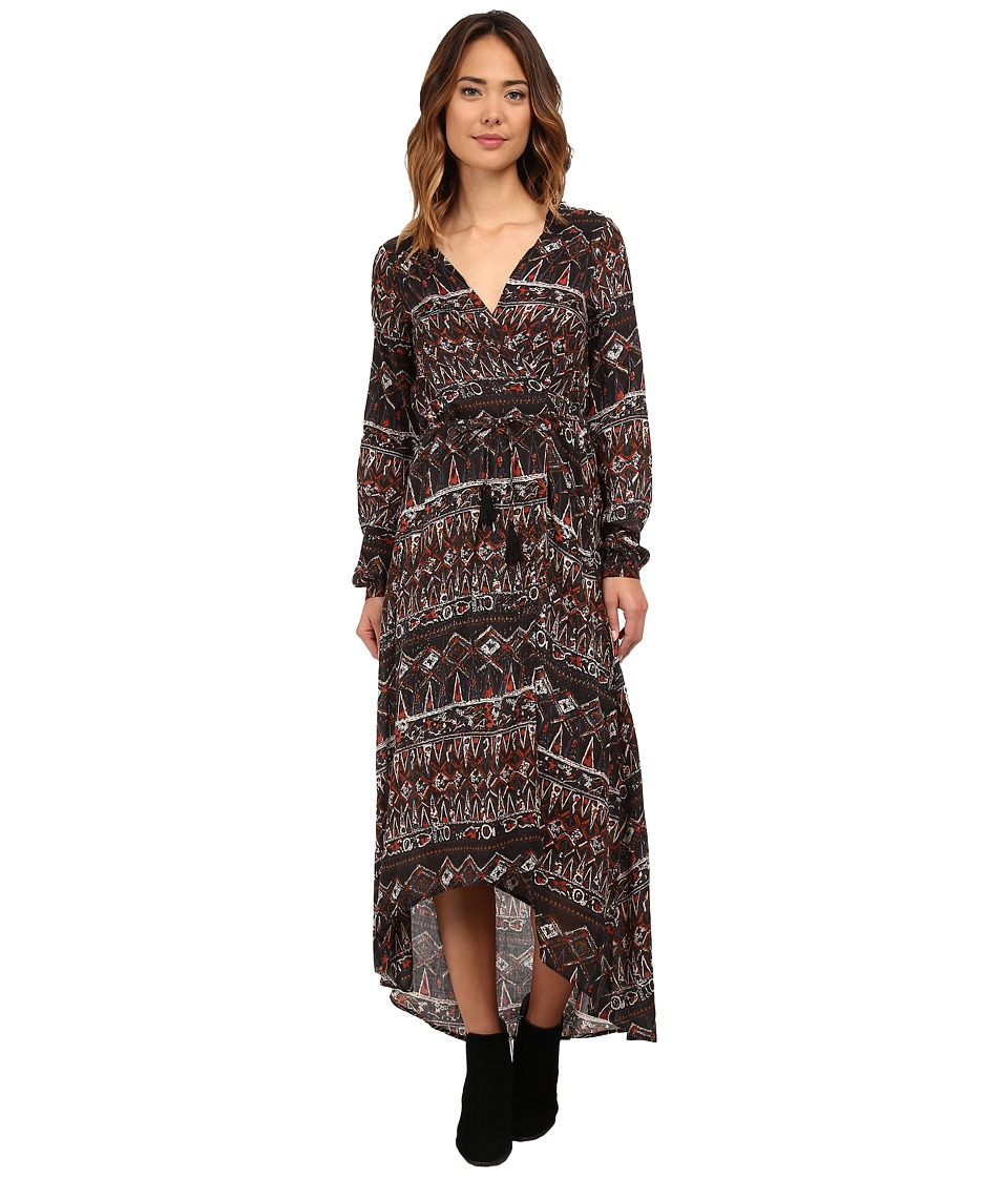 Volcom - Wrapture Dress (Bark Brown) Women's Dress