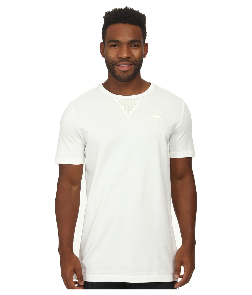 PUMA - Pique Tee (White/Whisper White) Men