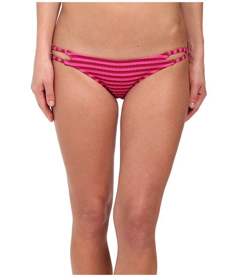 Volcom - Broken Lines Full Bottoms (Fiesta Pink) Women's Swimwear