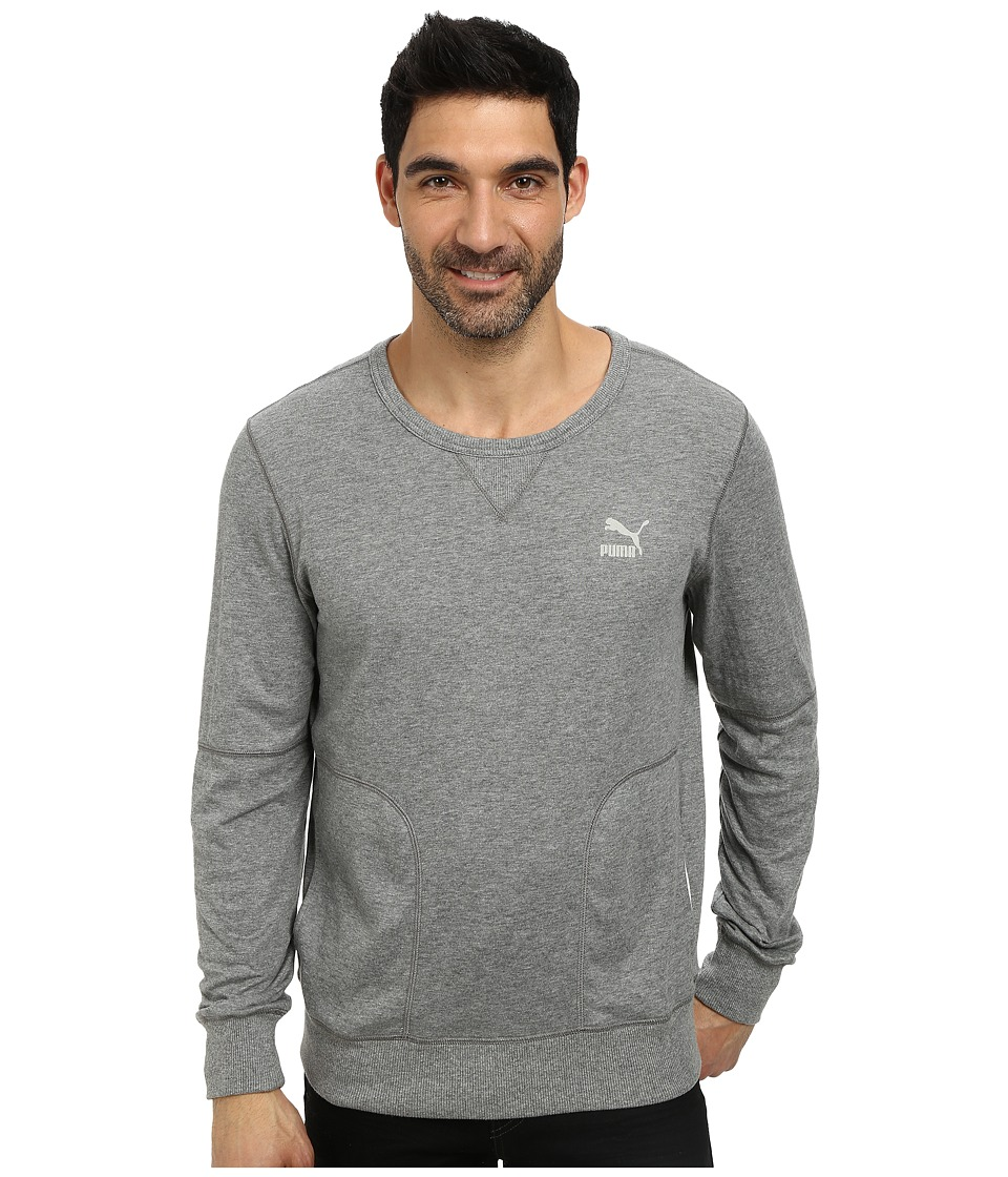 PUMA - Brasil 70 Summer Sweatshirt (Medium Gray Heather) Men's Sweatshirt