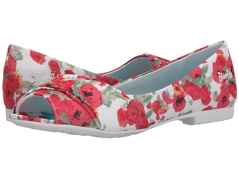 Blowfish - Rale (Off White Monet Flowers Print Fabric) Women's Flat Shoes