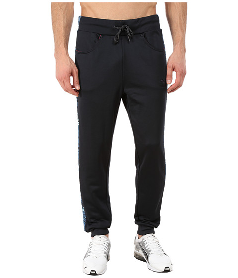 PUMA - HOH Printed Track Pants (Midnight Navy) Men