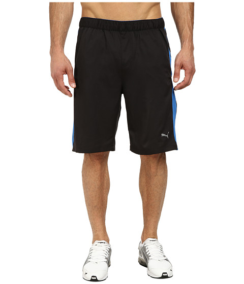 PUMA - Active Stretch 10 Shorts (Black/Strong Blue) Men