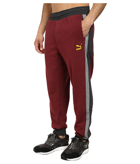 PUMA - Fashion Sweatpants (Zinfandel) Men's Casual Pants