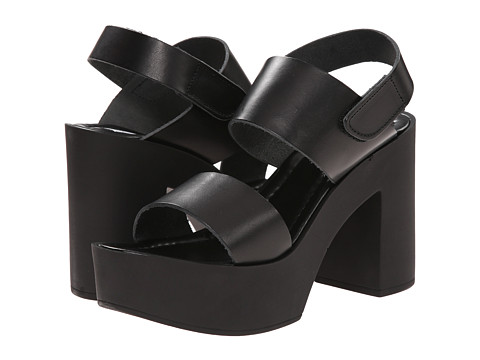 Steve Madden - Sanders (Black Leather) High Heels