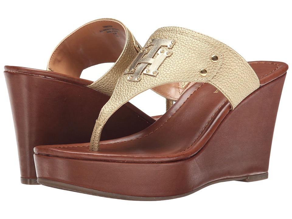 Tommy Hilfiger - Madison (Gold/Gold) Women's Wedge Shoes