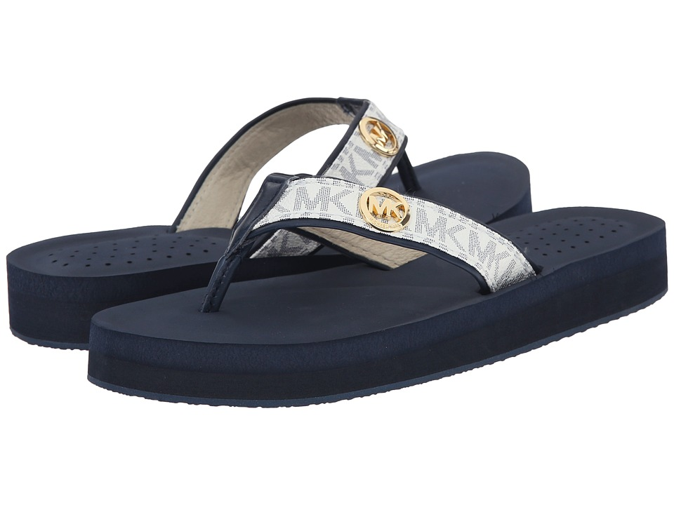 MICHAEL Michael Kors - Gage Flip Flop (White/Navy) Women's Sandals