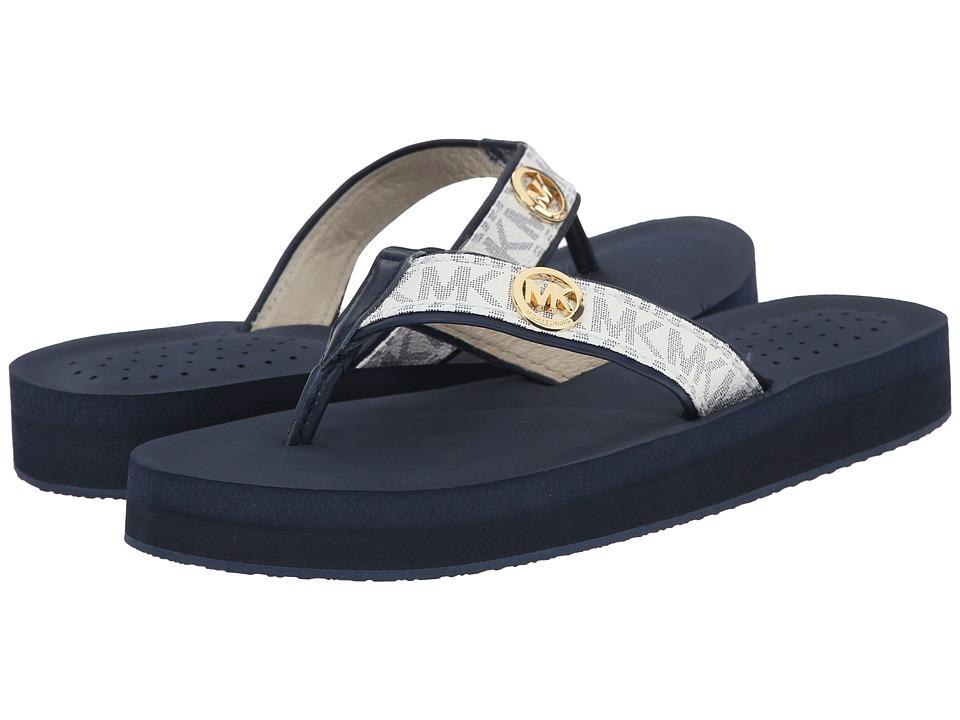 MICHAEL Michael Kors - Gage Flip Flop (White/Navy) Women's Sandals