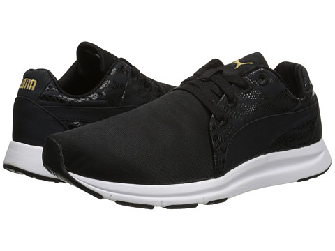 PUMA - Haast Lace Animal (Black/New Gold) Women's Shoes